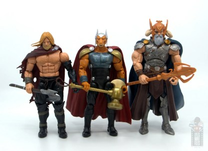Marvel Legends Beta Ray Bill figure review - scale with unworthy thor and odin