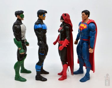 dc multiverse nightwing figure review - facing kyle rayner, batwoman and superman