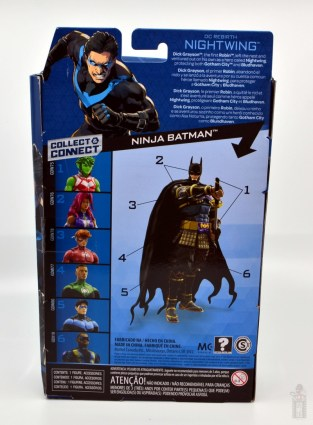 dc multiverse nightwing figure review - package rear