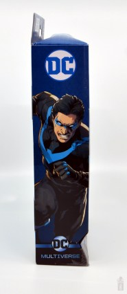 dc multiverse nightwing figure review - package side