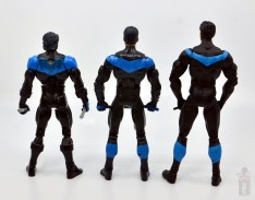 dc multiverse nightwing figure review - rear shot of dc classics nightwing and dc essentials nightwing