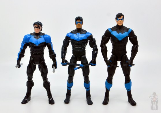 dc multiverse nightwing figure review - scale with dc classics nightwing and dc essentiials nightwing