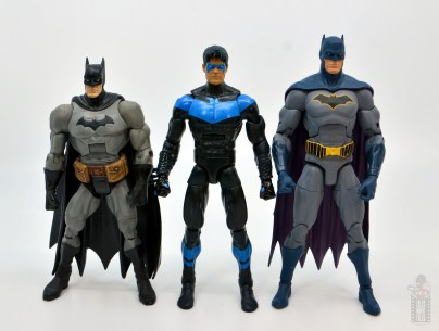 dc multiverse nightwing figure review - with dc classics batman and dc essentials batman