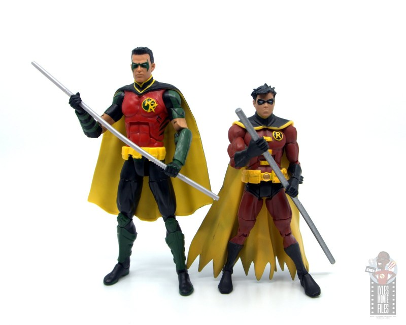 dc multiverse red robin figure review - scale with earlier robin