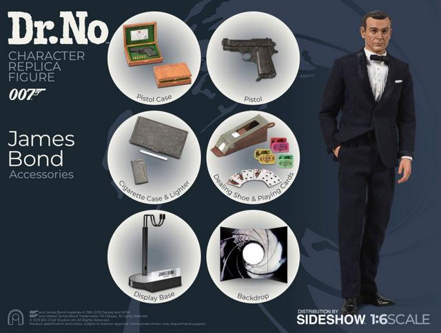 dr no james bond figure - accessories