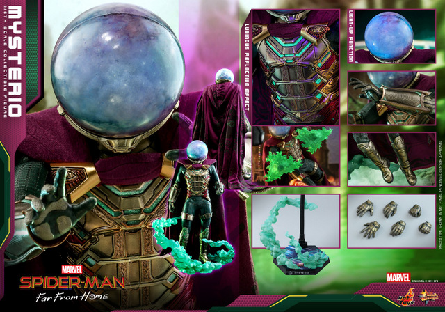 hot toys spider-man far from home mysterio figure - collage