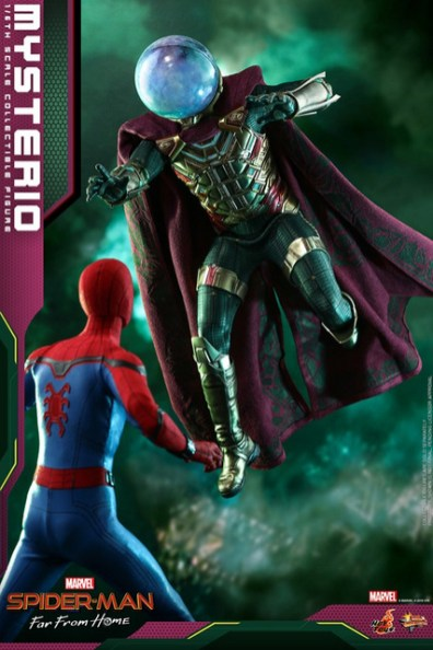 hot toys spider-man far from home mysterio figure - meeting spider-man