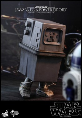 hot toys star wars Jawa and EG-6 Power Droid Collectible figure set - eg-6 meeting r2d2