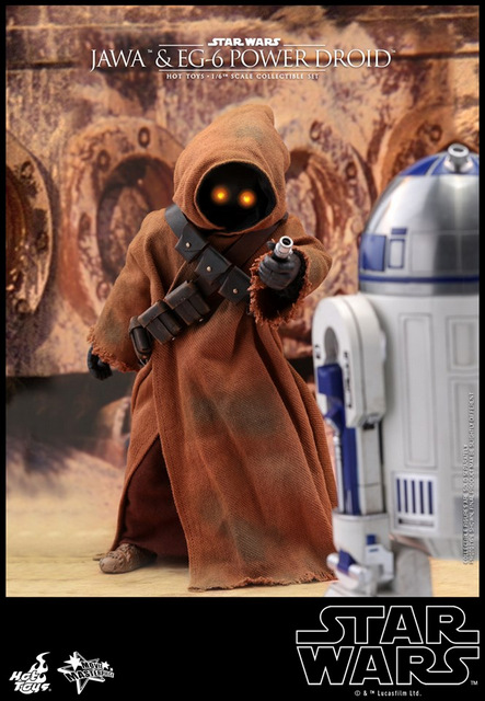 hot toys star wars Jawa and EG-6 Power Droid Collectible figure set - immobilizing r2d2