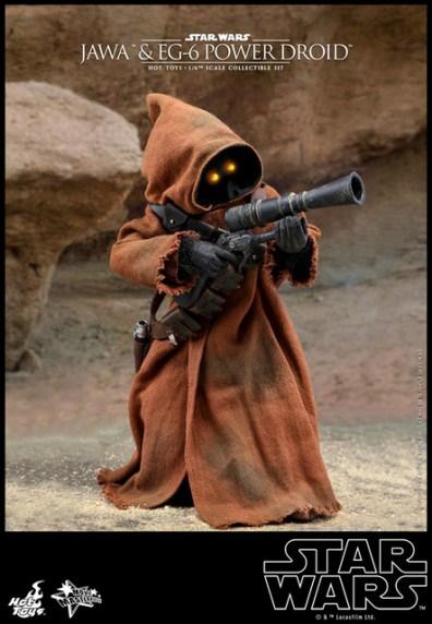 hot toys star wars Jawa and EG-6 Power Droid Collectible figure set - jawa aiming blaster