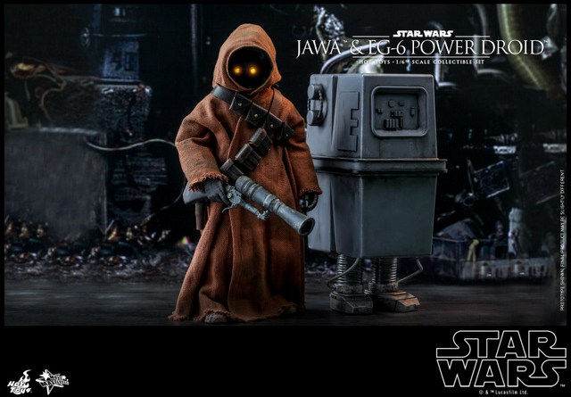hot toys star wars Jawa and EG-6 Power Droid Collectible figure set - main pic