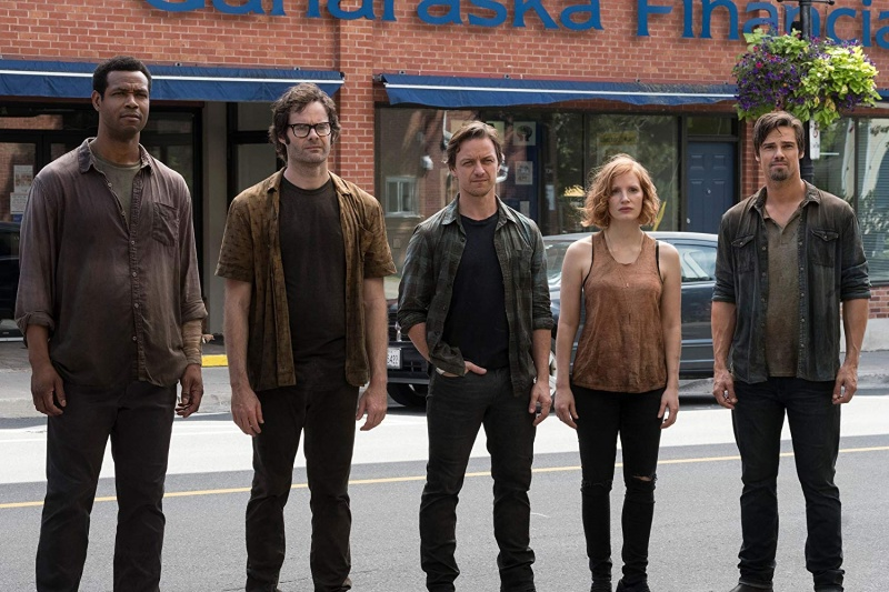it chapter two movie review - isaiah mustafa, bill hader, jessica chastain, james mcavoy and jay ryan