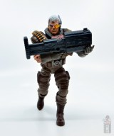 marvel legends cable figure review -charging with gun