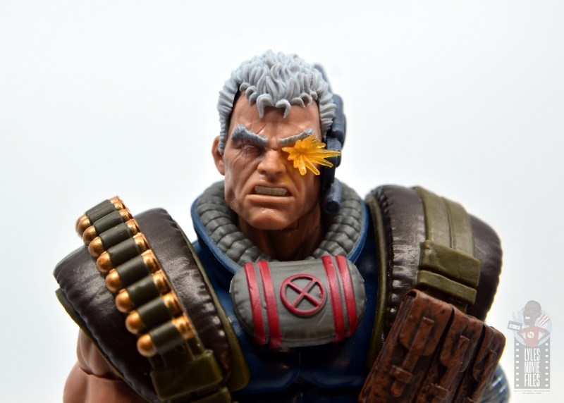 marvel legends cable figure review - close up main pic