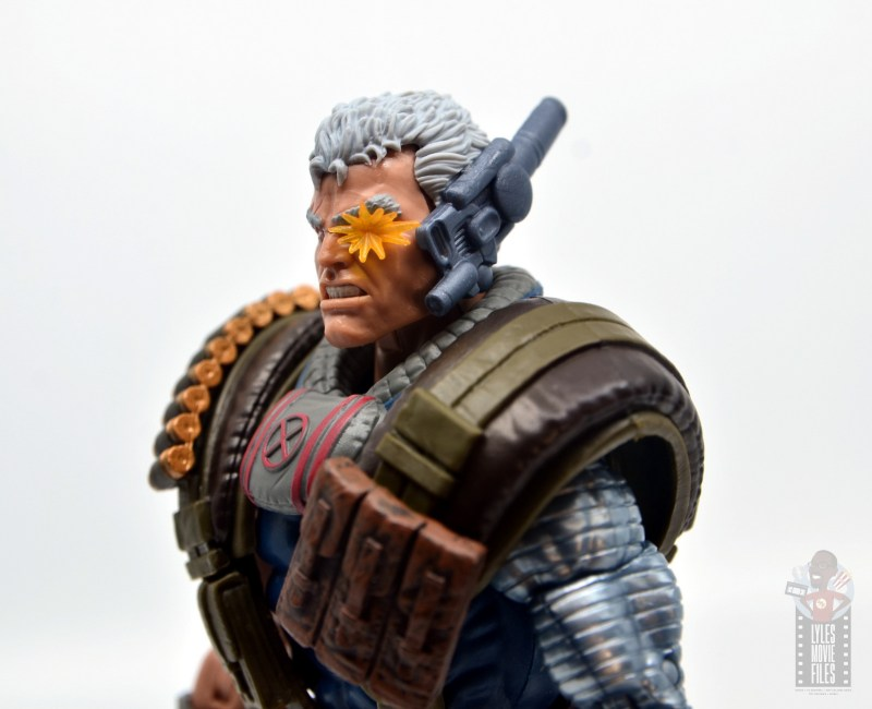 marvel legends cable figure review - detailed right side