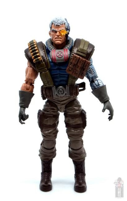 marvel legends cable figure review - front