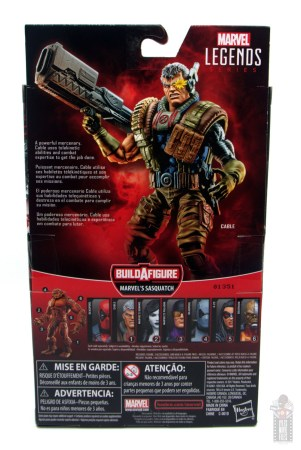 marvel legends cable figure review - package rear