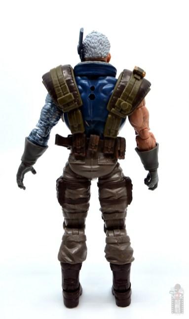 marvel legends cable figure review - rear