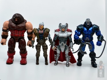 marvel legends cable figure review - scale with juggernaut, stryfe and apocalypse