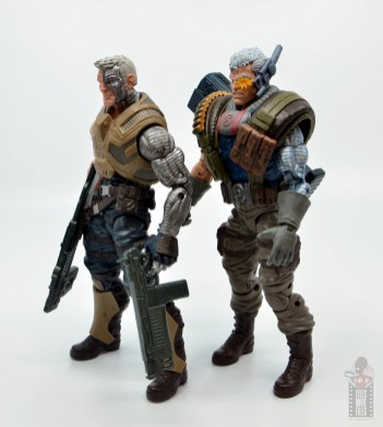 marvel legends cable figure review - side glance at both cables
