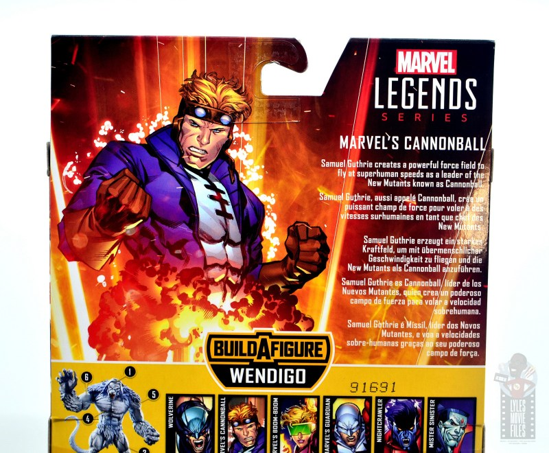marvel legends cannonball figure review - package bio