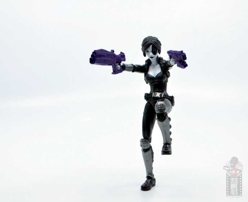 marvel legends domino figure review -aiming