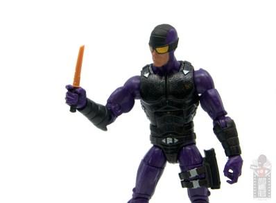 marvel legends paladin figure review - knife close up