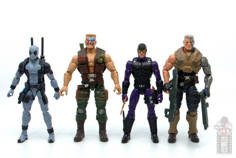 marvel legends paladin figure review - scale with deadpool, nuke and cable