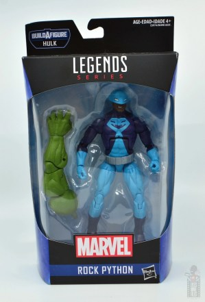 marvel legends rock python figure review - package front