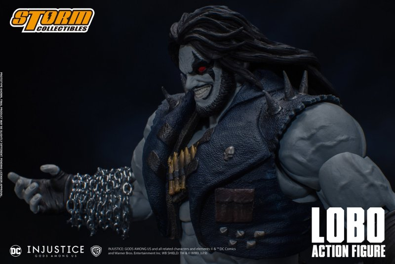 storm collectibles injustice gods among us lobo figure - chain arm