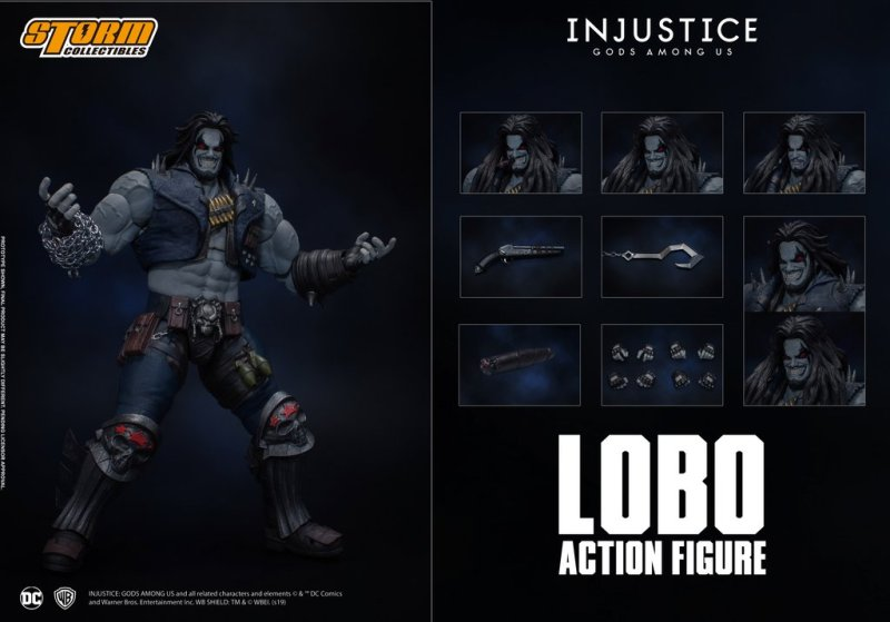 storm collectibles injustice gods among us lobo figure - collage