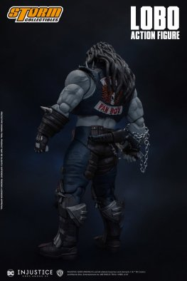 storm collectibles injustice gods among us lobo figure - rear