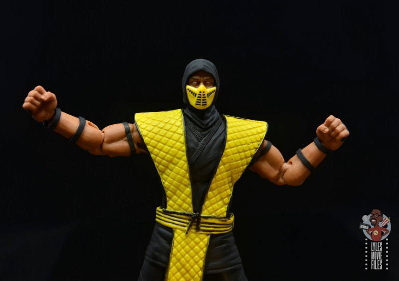storm collectibles scorpion figure review -arms out