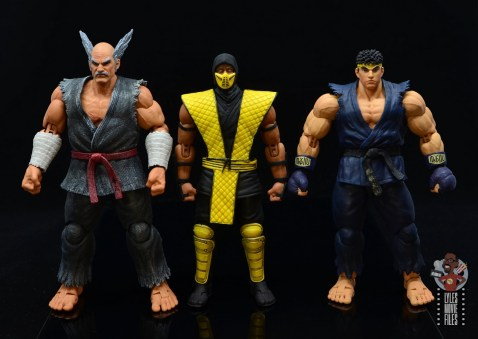 storm collectibles scorpion figure review - scale with heihachi and ryu