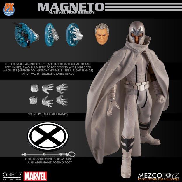 mezco toys marvel now magneto figure collage