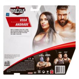 wwe battle pack 62 - andrade and zelina vega - package rear