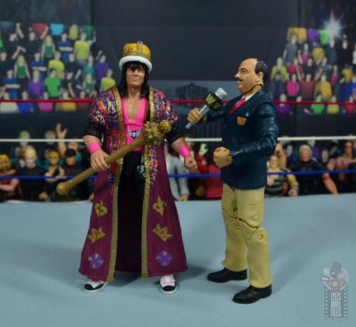 wwe bret hart king of the ring 1993 figure review - coronation with mean gene okerlund