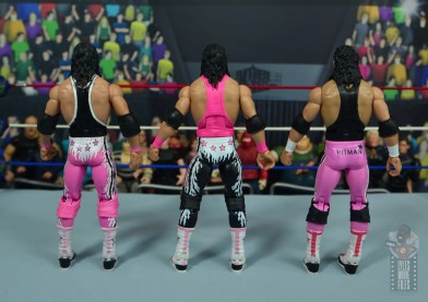 wwe bret hart king of the ring 1993 figure review - rear with wrestlemania 10 and hart foundation bret