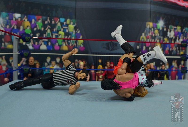 wwe bret hart king of the ring 1993 figure review - rolling up mr. perfect