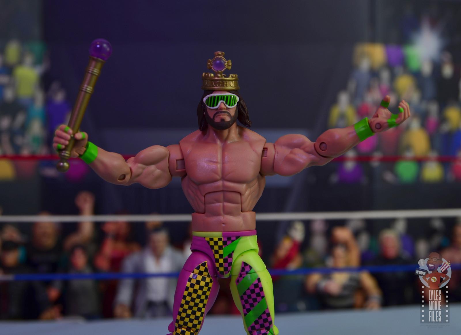 WWE Mattel Elite Royal Rumble Macho Man Randy Savage King Figure