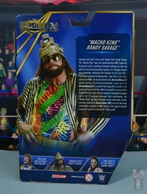 wwe elite macho king figure review - package rear