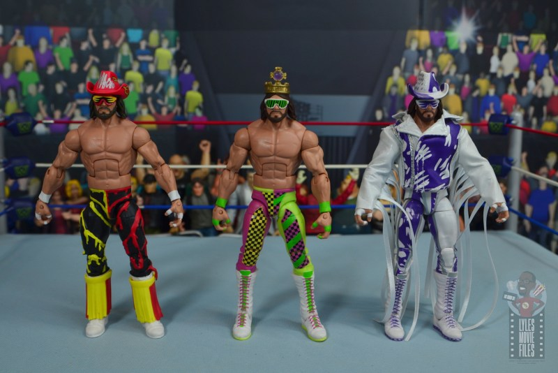 wwe elite macho king figure review - with wcw macho man and defining moments figure