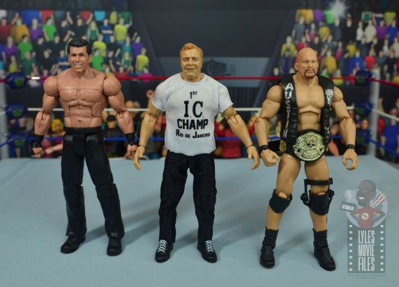wwe elite pat patterson figure review - scale with vince mcmahon and stone cold steve austin