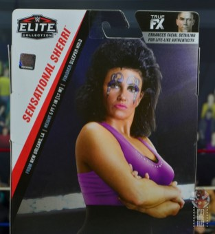wwe elite sensational sherri figure review - package stats