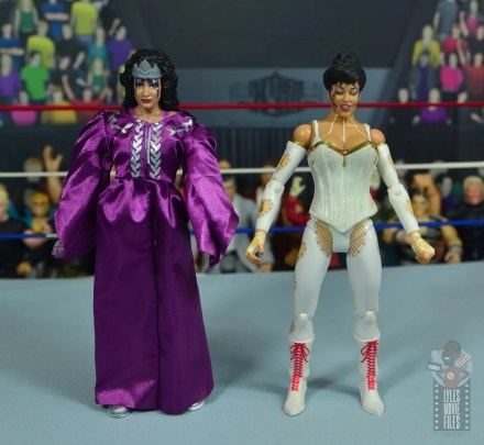 wwe elite sensational sherri figure review - side by side with jakks sherri