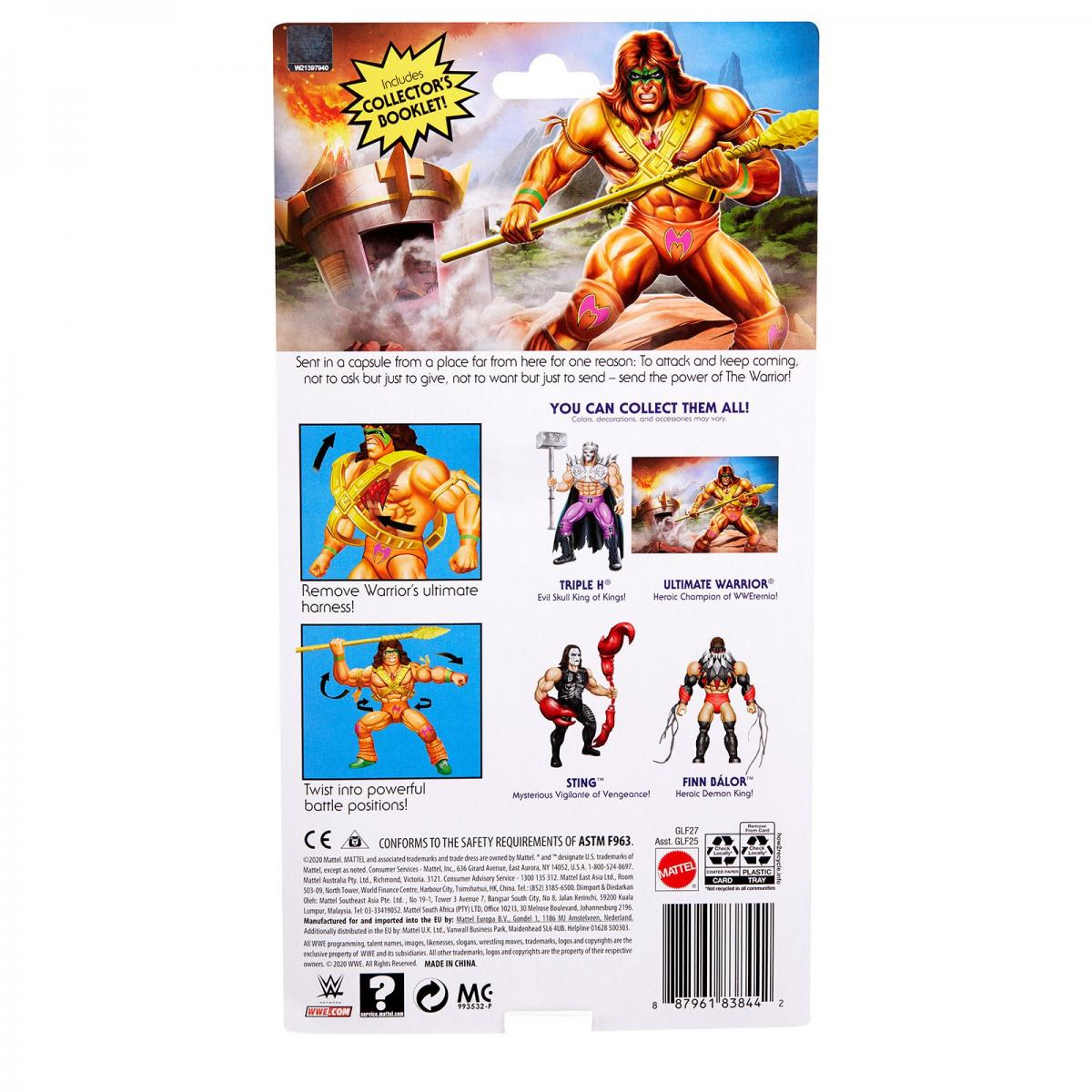 ULTIMATE WARRIOR Mattel WWE Masters Of The Universe