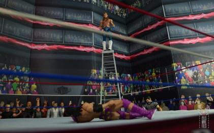 wwe network spotlight shawn michaels figure review - standing atop ladder