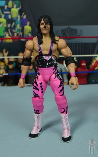 wwe ultimate edition bret hitman hart figure review - front