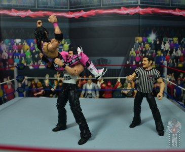 wwe ultimate edition bret hitman hart figure review - getting jacknifed powerbomb from diesel