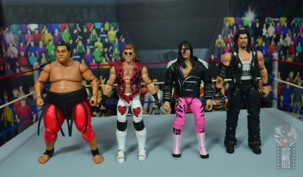 wwe ultimate edition bret hitman hart figure review - scale with yokozuna, shawn michaels and diesel